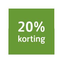 20% Korting in oktober